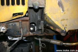 The driveshaft removed from the CV